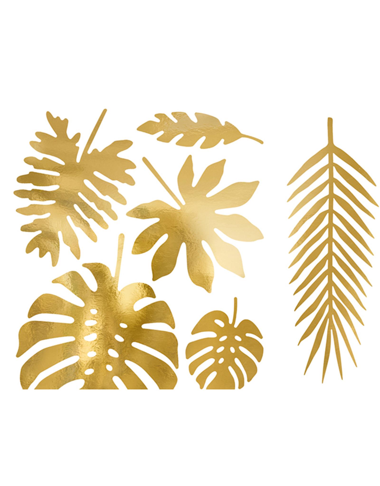 PartyDeco Decoratiebladeren goud | 21 stuks