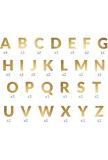 PartyDeco Letterslinger alfabet goud | 63 letters