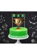 PartyDeco Taarttoppers voetbal | 2 stuks