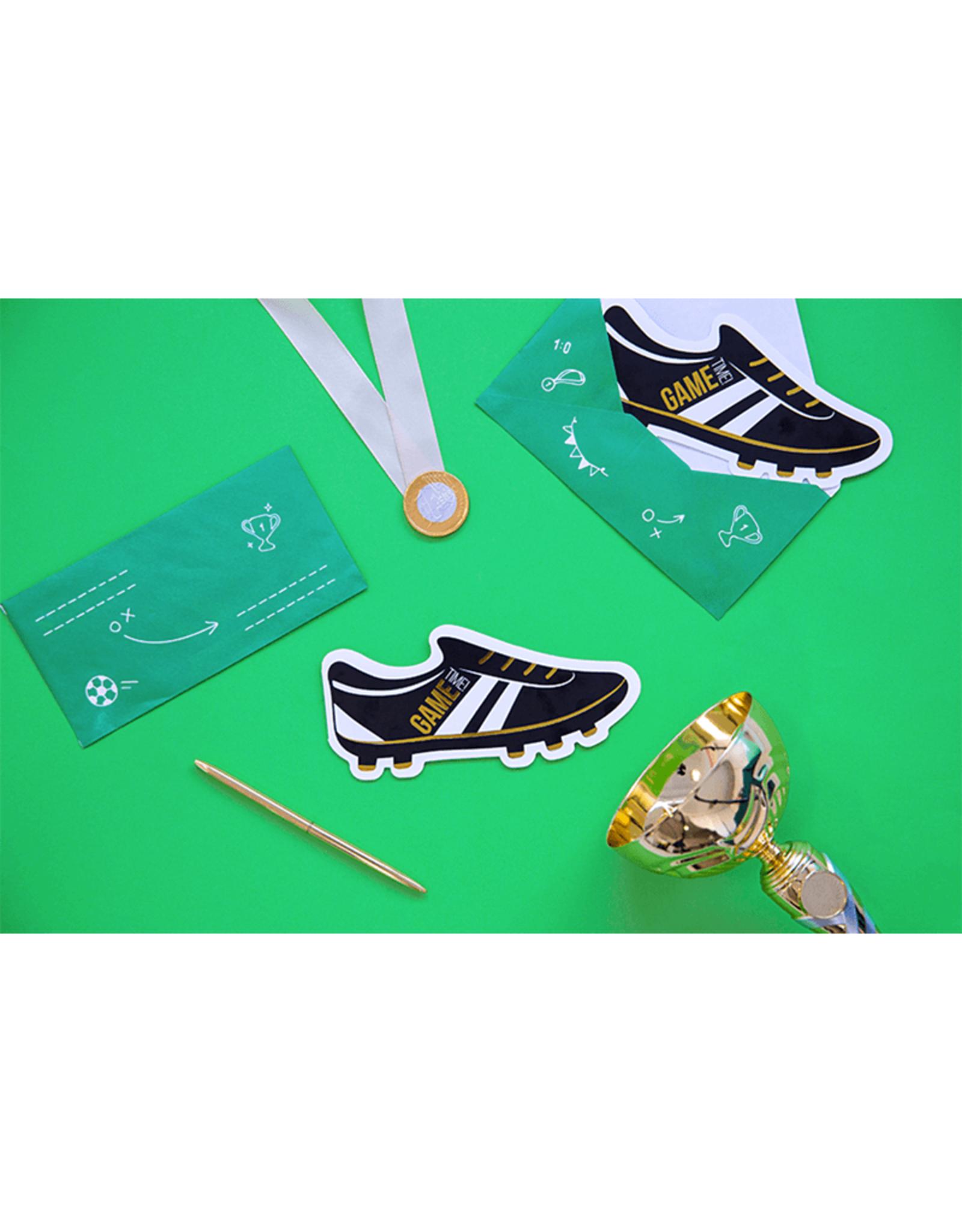 PartyDeco Uitnodigingen voetbal feestje | 6 stuks