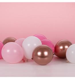 Ginger Ray Ballonnenmix rosé goud & roze (12 cm) | 40st