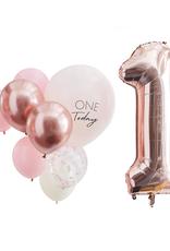 Ginger Ray Ballonnenmix One Today roze & rosé goud | 10 stuks