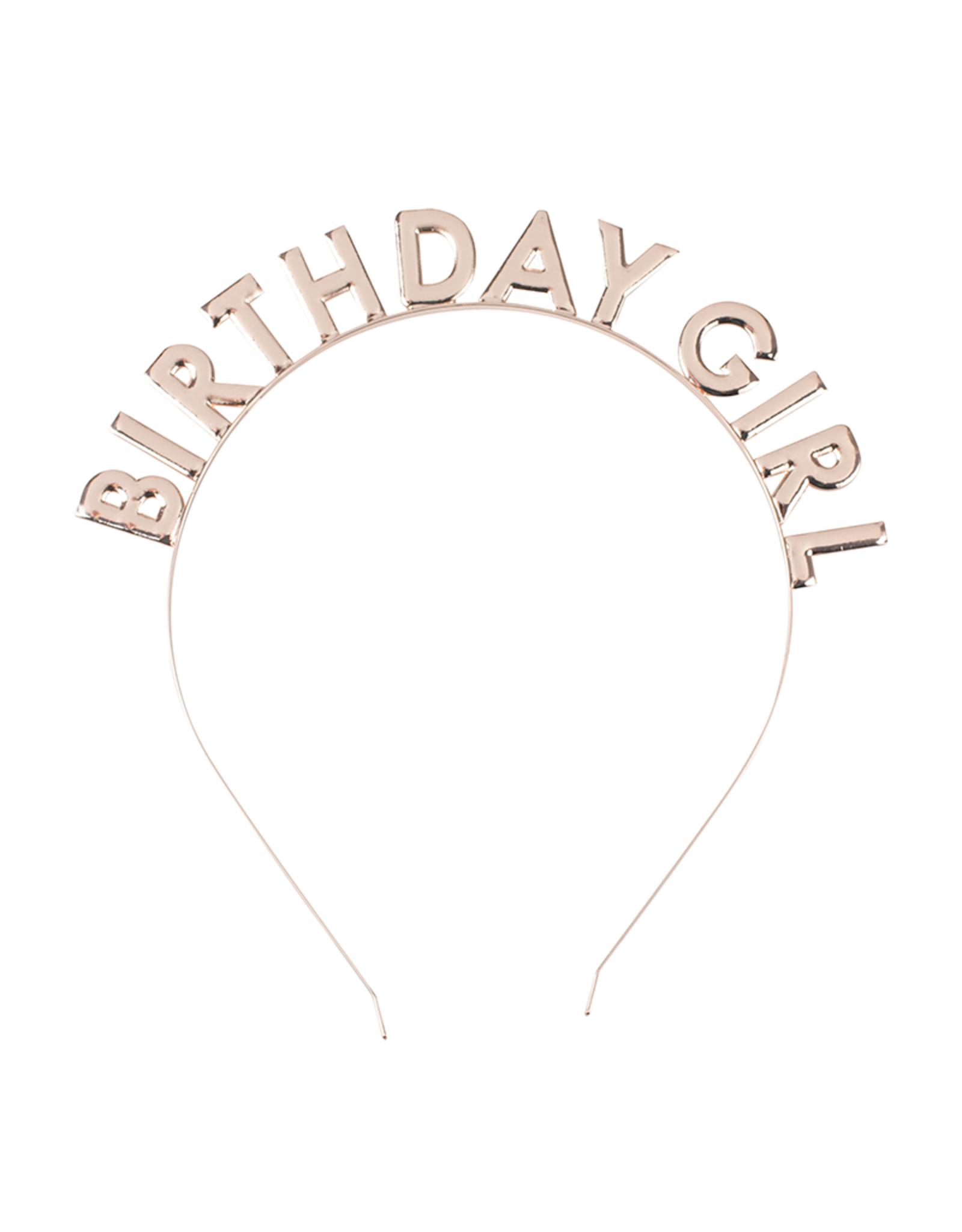 Ginger Ray Diadeem Birthday Girl rosé goud