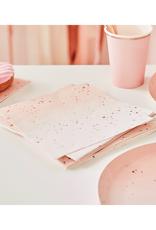 Ginger Ray Ombre servetten rosé goud | 16 stuks