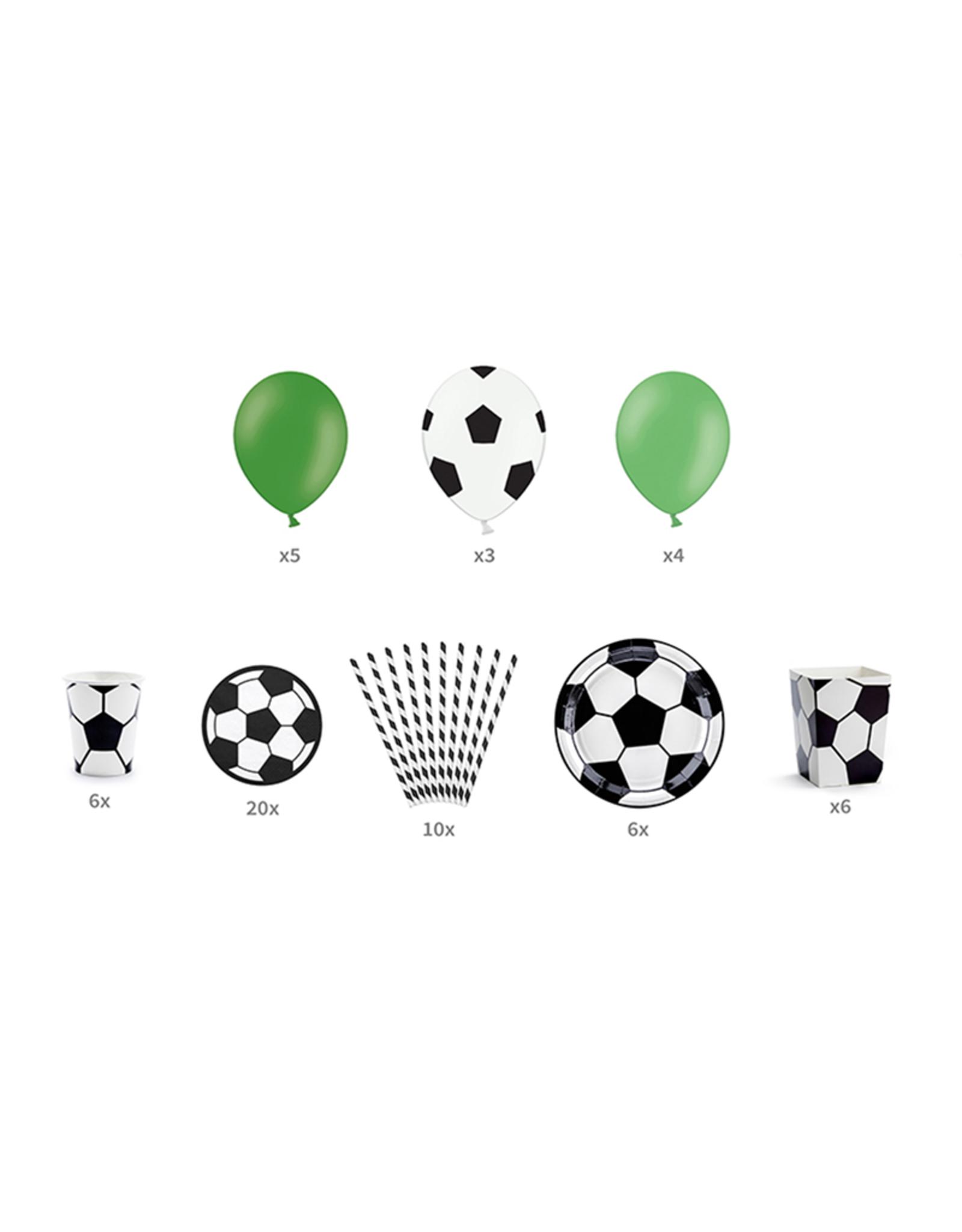 PartyDeco Voetbal feestpakket   6 personen