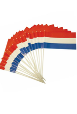HAZA Zwaaivlag papier rood, wit & blauw | 20 x 30 cm