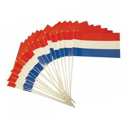 HAZA Zwaaivlag rood, wit & blauw | 20 x 30 cm