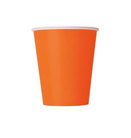 HAZA Papieren bekertjes oranje | 8st
