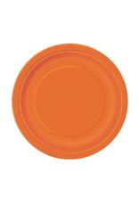 HAZA Papieren bordjes oranje | 8 stuks