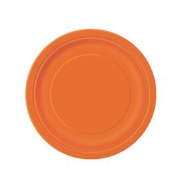 HAZA Papieren bordjes oranje | 8st