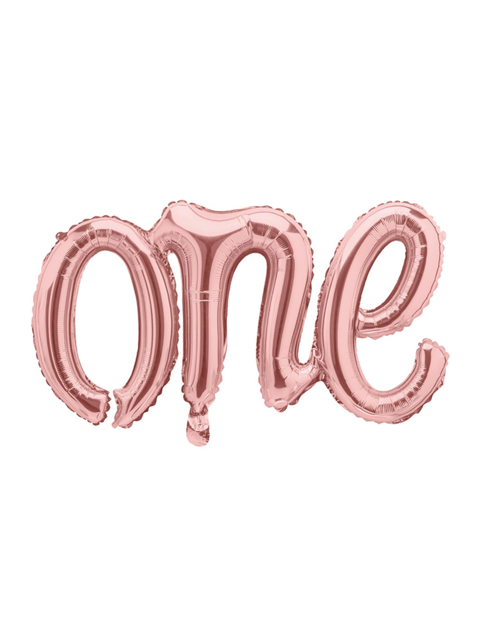 folie ballon one rosé goud