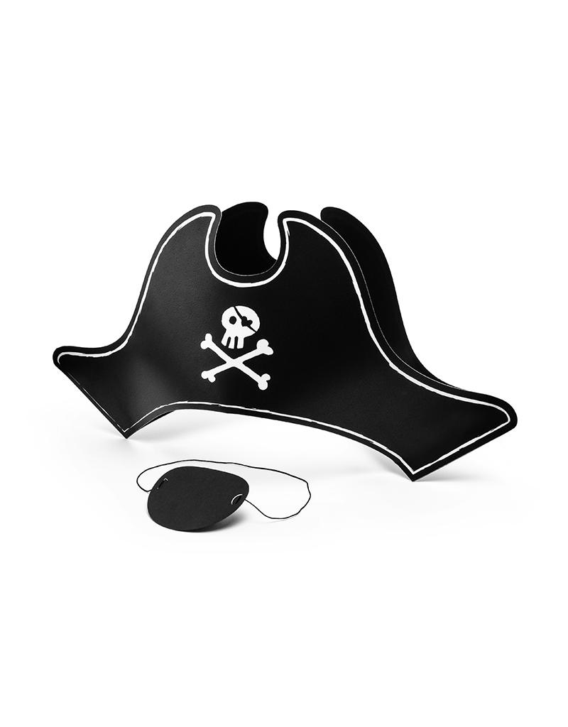 Piraten hoed en ooglap