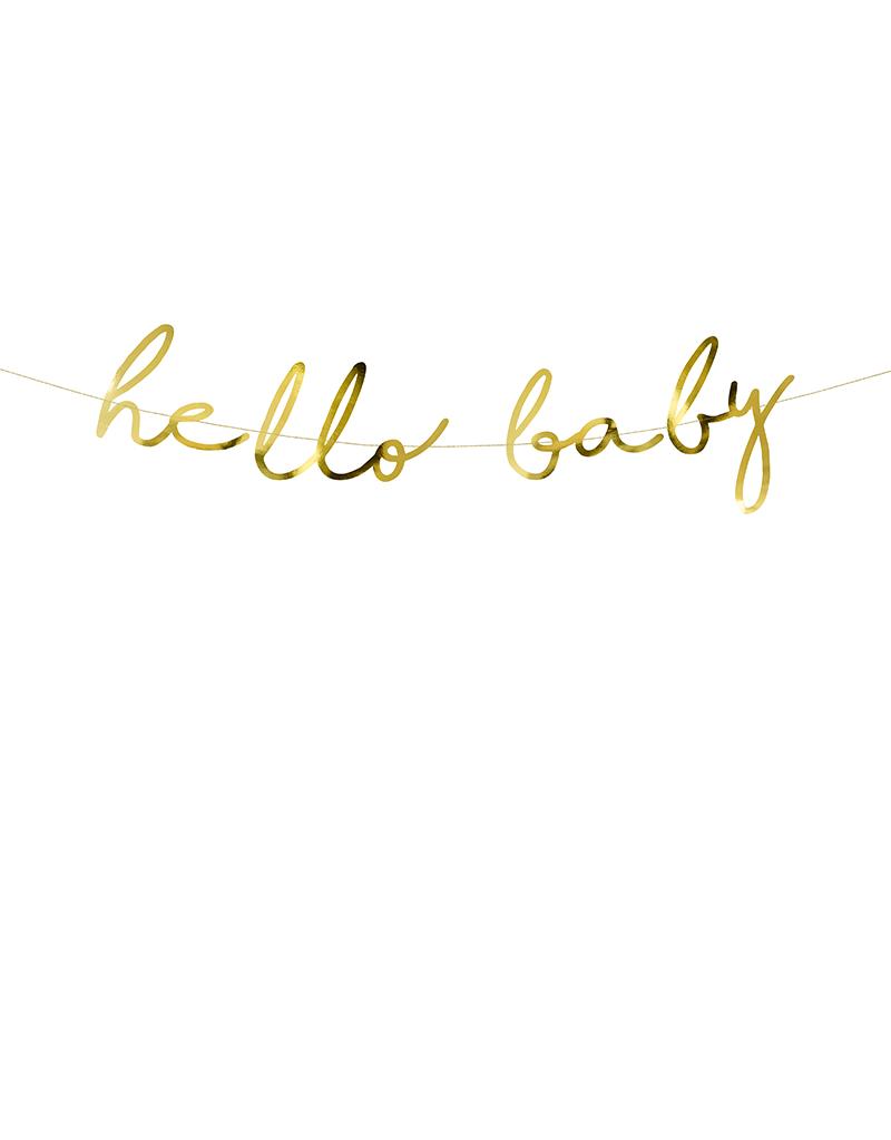gouden babyshower slinger