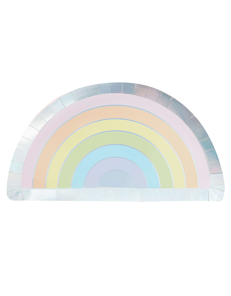 Wegwerpbordje regenboog thema