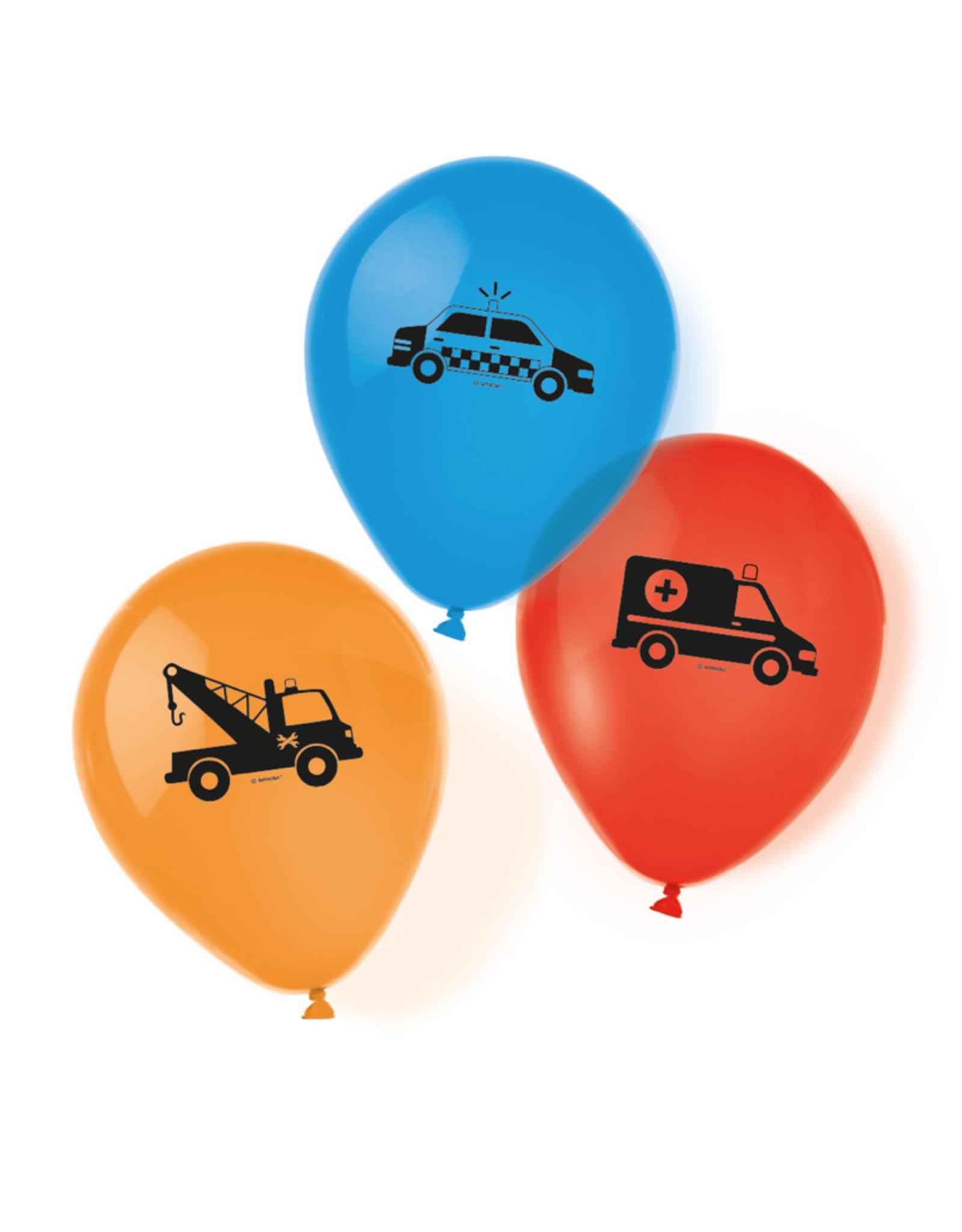 Amscan Ballonnen hulpdiensten | 6 stuks