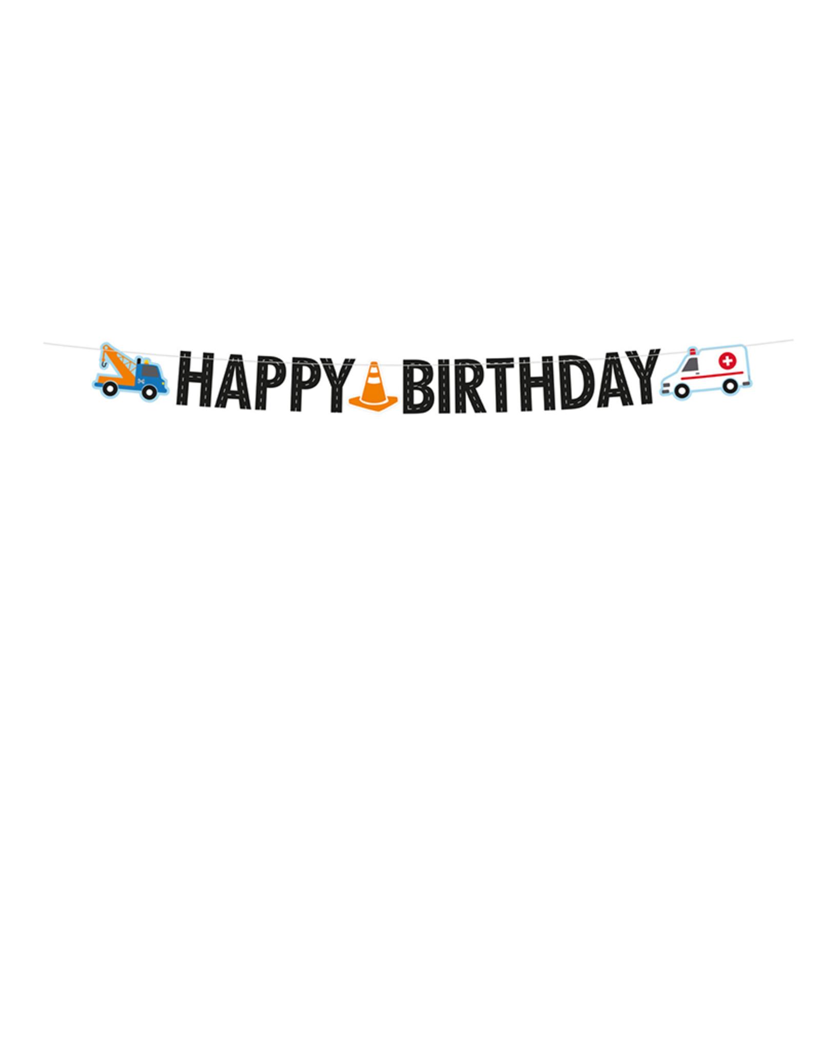 Amscan Slinger hulpdiensten Happy Birthday | 1,8 meter