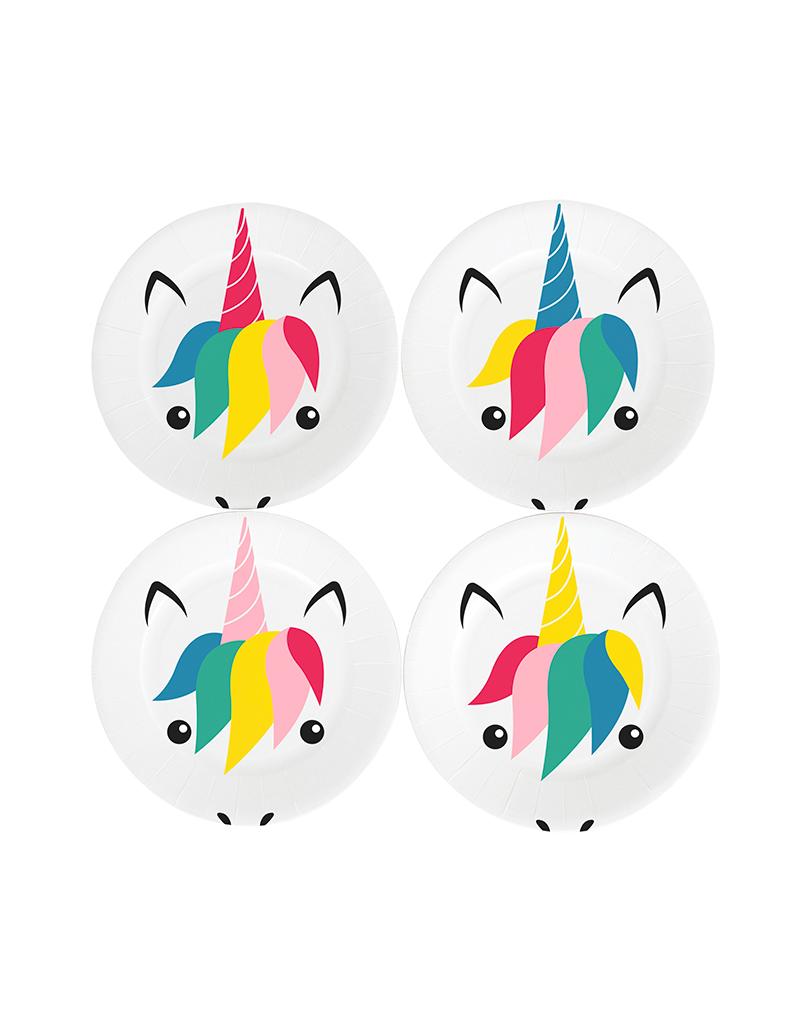 Unicorn wegwerpbordjes