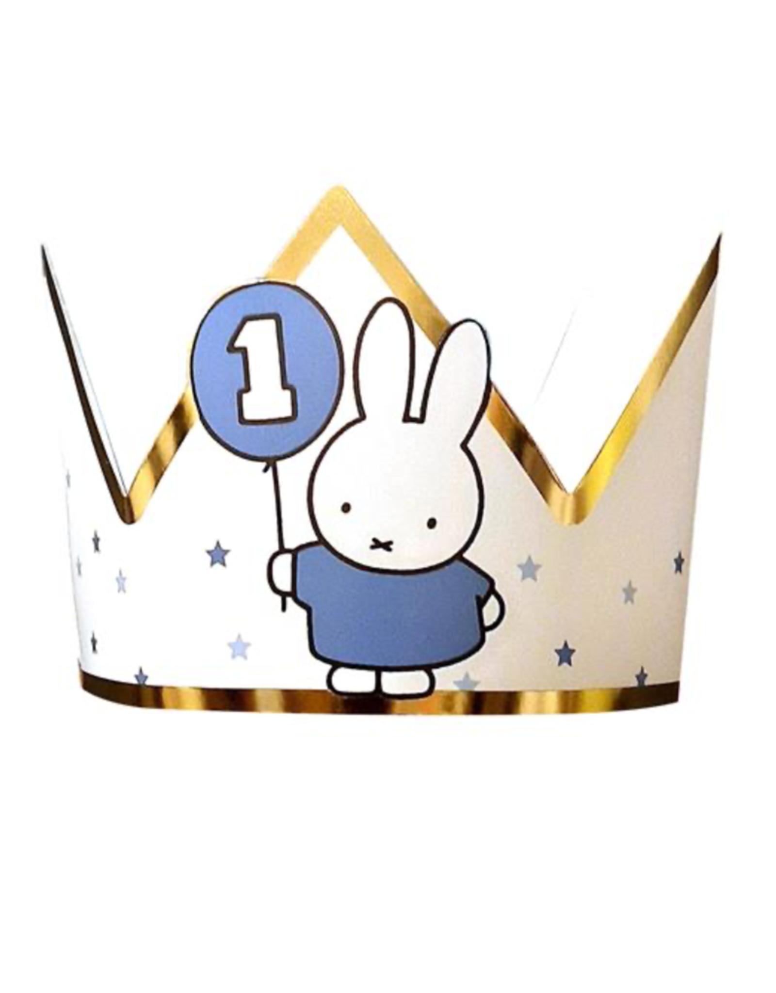 HAZA Kroontje Nijntje 1 jaar blauw & goud