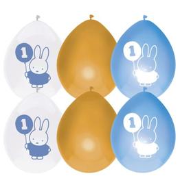 HAZA Ballonnenmix Nijntje blauw 1 jaar | 6st