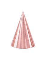 PartyDeco Feesthoedjes rosé goud | 6 stuks