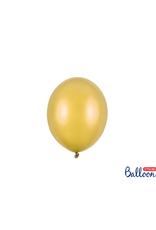 PartyDeco Mini ballonnen goud (12 cm) | 10 stuks