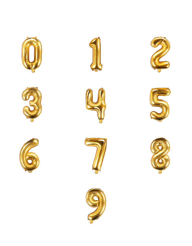 Folie ballon cijfer goud