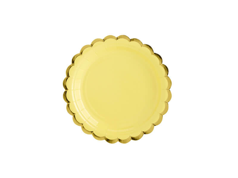 Wegwerpbordje geel