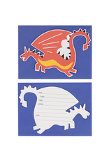 My Little Day Uitnodigingen ridders & draken   8 stuks