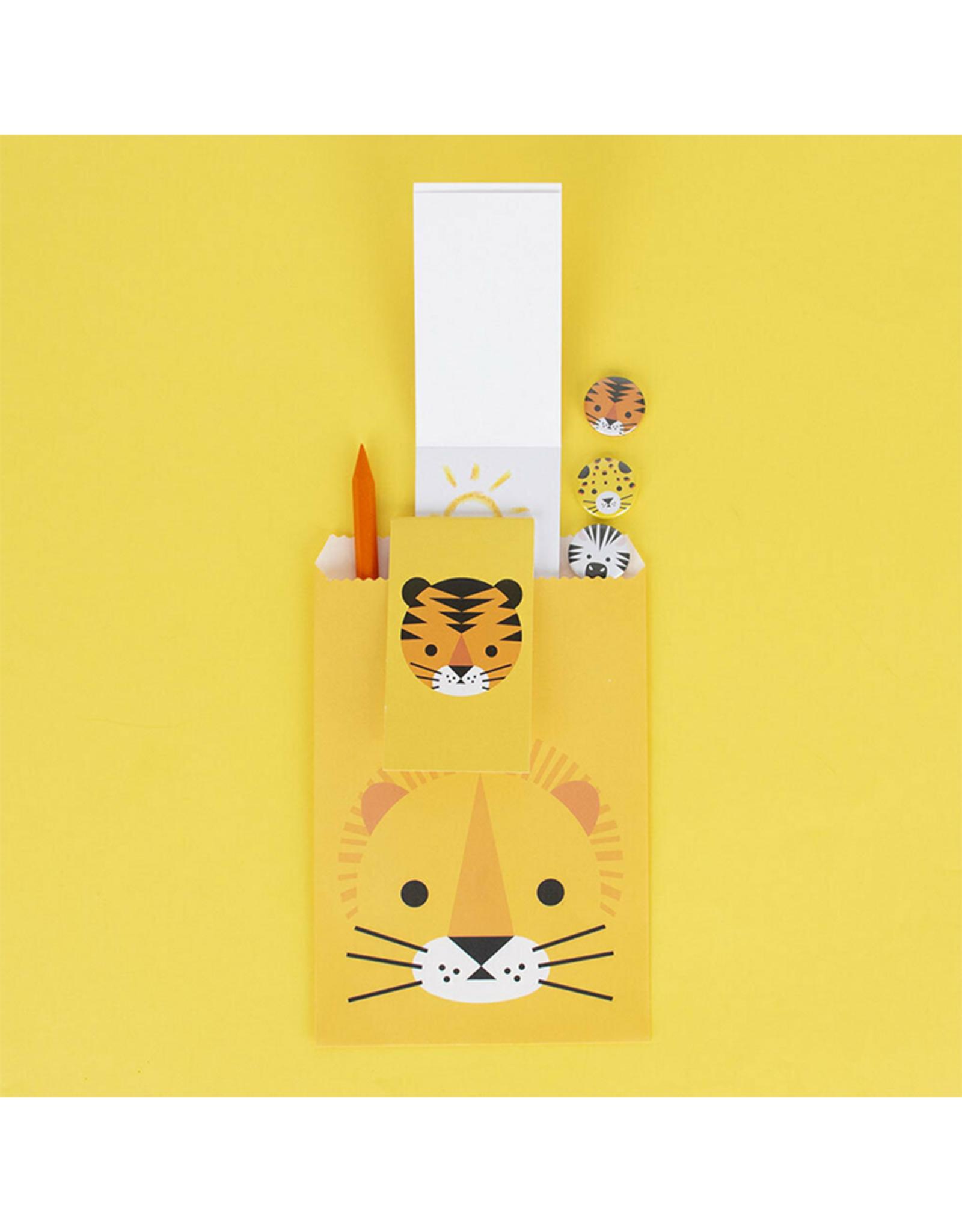 My Little Day Klein notitieblokje tijger print