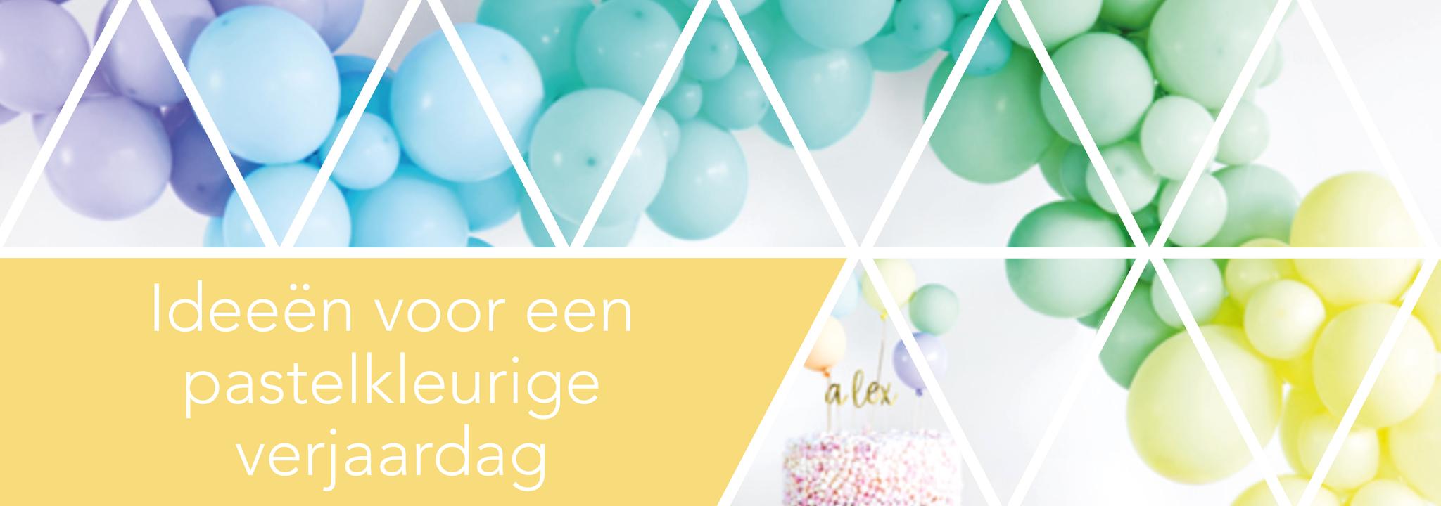 Ideeën voor een pastelkleurige verjaardag