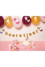 HAZA Ballonnenmix Nijntje roze 1 jaar | 6 stuks