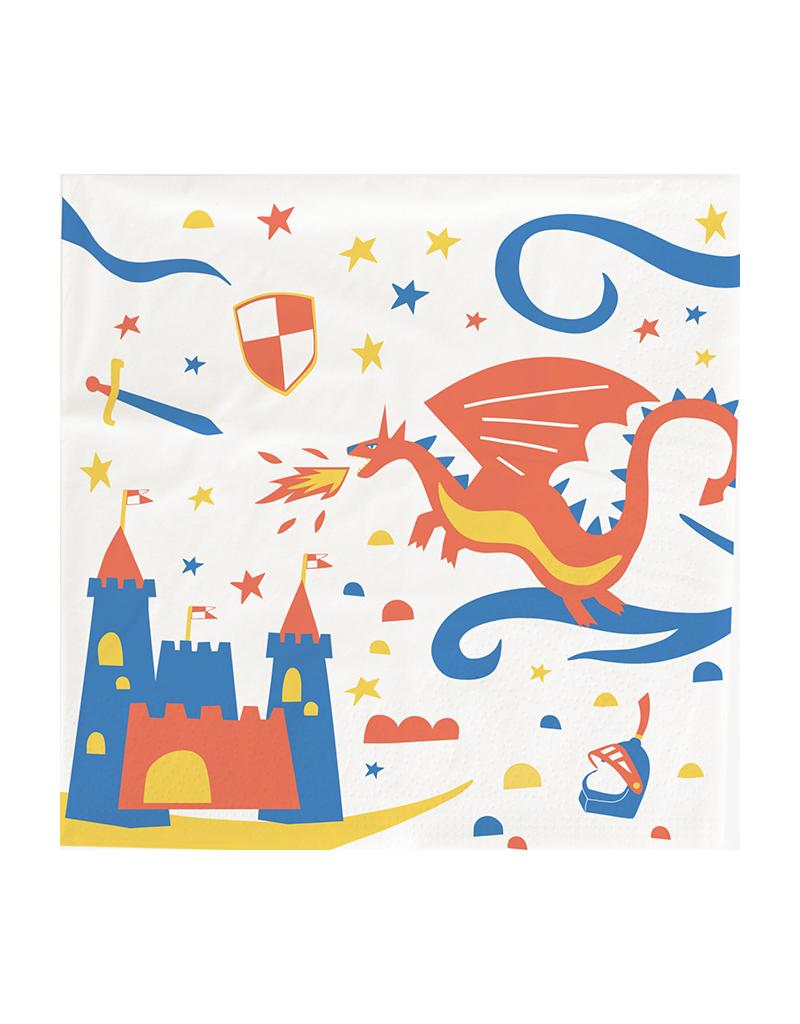Servetten kinderfeestje ridder thema