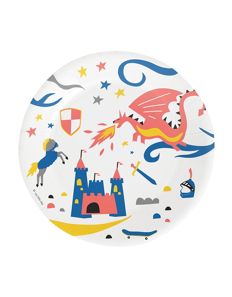 Bordjes ridder thema kinderfeestje