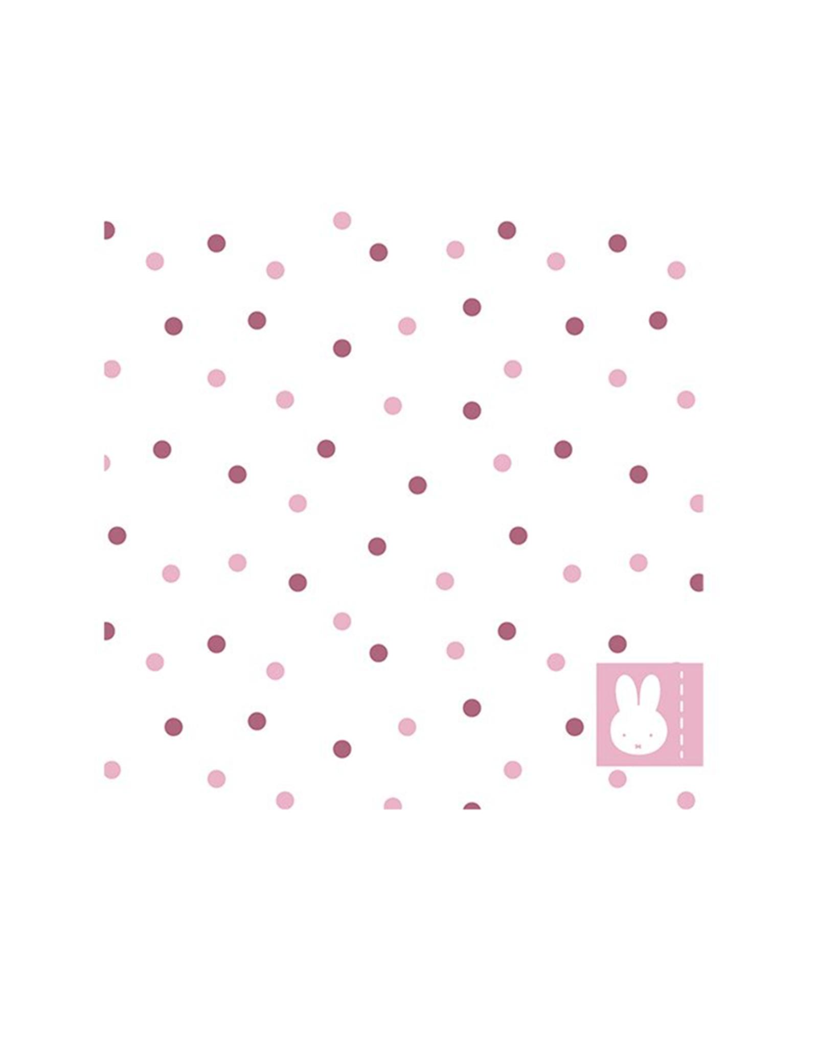HAZA Nijntje servetten roze   20 stuks