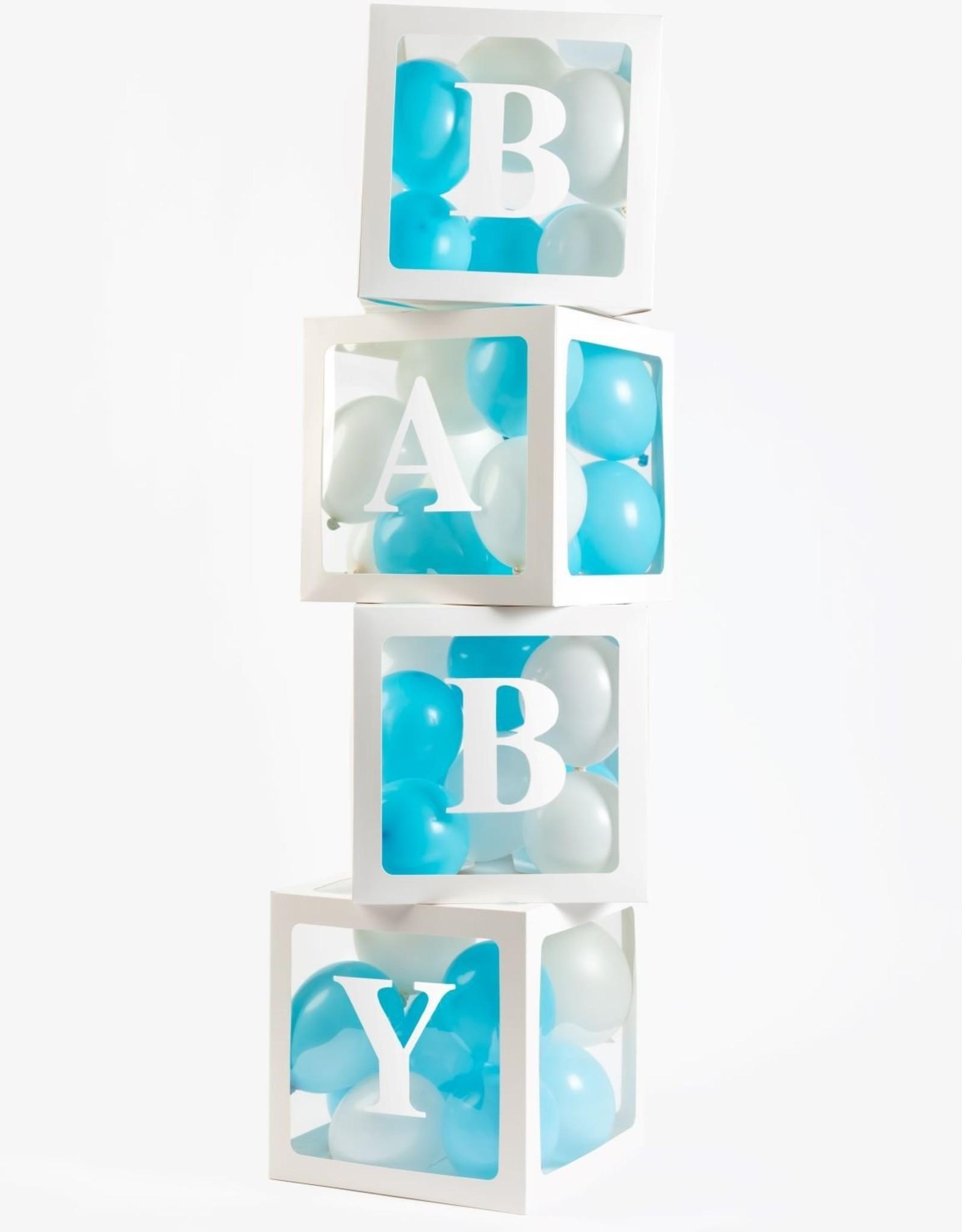Ballonnen box BABY & LOVE | 4 stuks