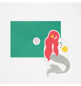 My Little Day Uitnodiging zeemeermin thema | 8st