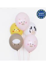 My Little Day Ballonnen boerderij dieren   5 stuks