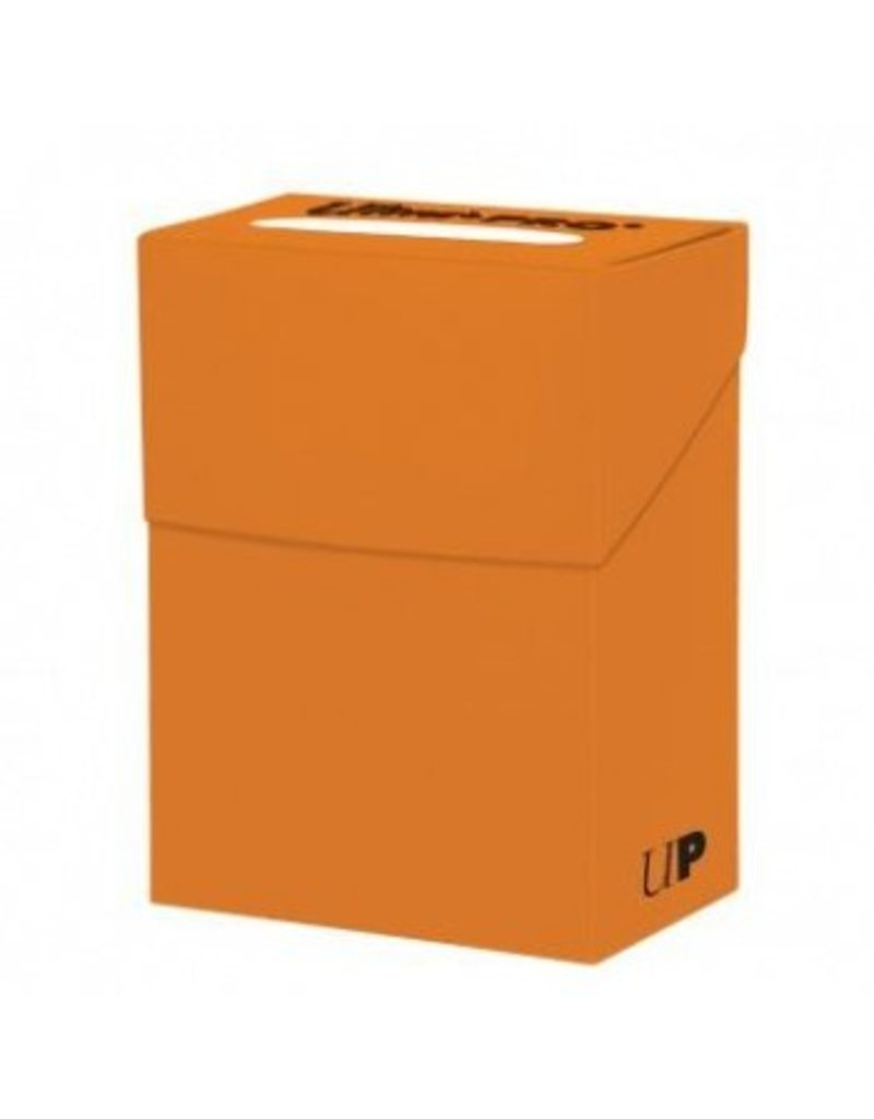 Ultra Pro Deck Box Solid Pumpkin Orange Ultra Pro