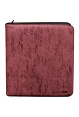 Ultra Pro Deck Builder's Playset Zippered Pro Binder Suede Collection - Ruby Ultra Pro