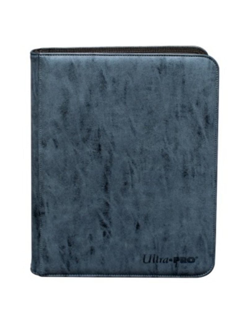 Ultra Pro 9-Pocket Zippered Premium Pro Binder Suede Collection - Sapphire Ultra Pro