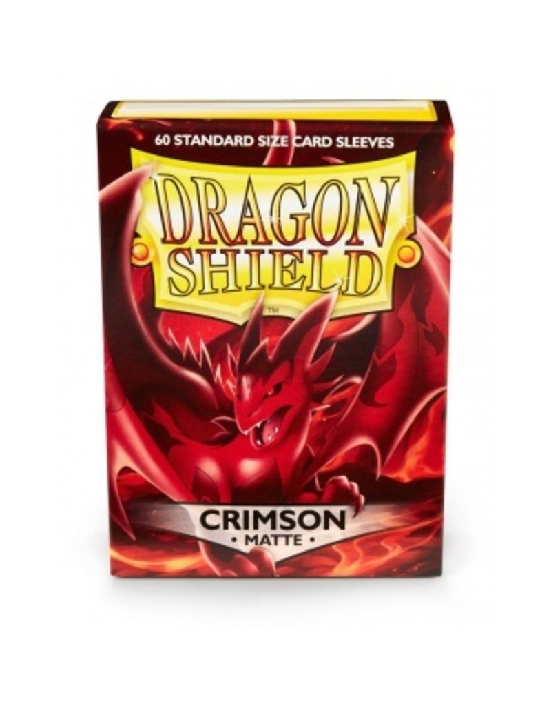 Dragon Shield Dragon Shield Standard Sleeves - Matte Crimson (60 Sleeves)