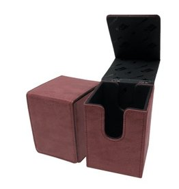 Ultra Pro Alcove Flip Box Suede Collection - Ruby Ultra Pro
