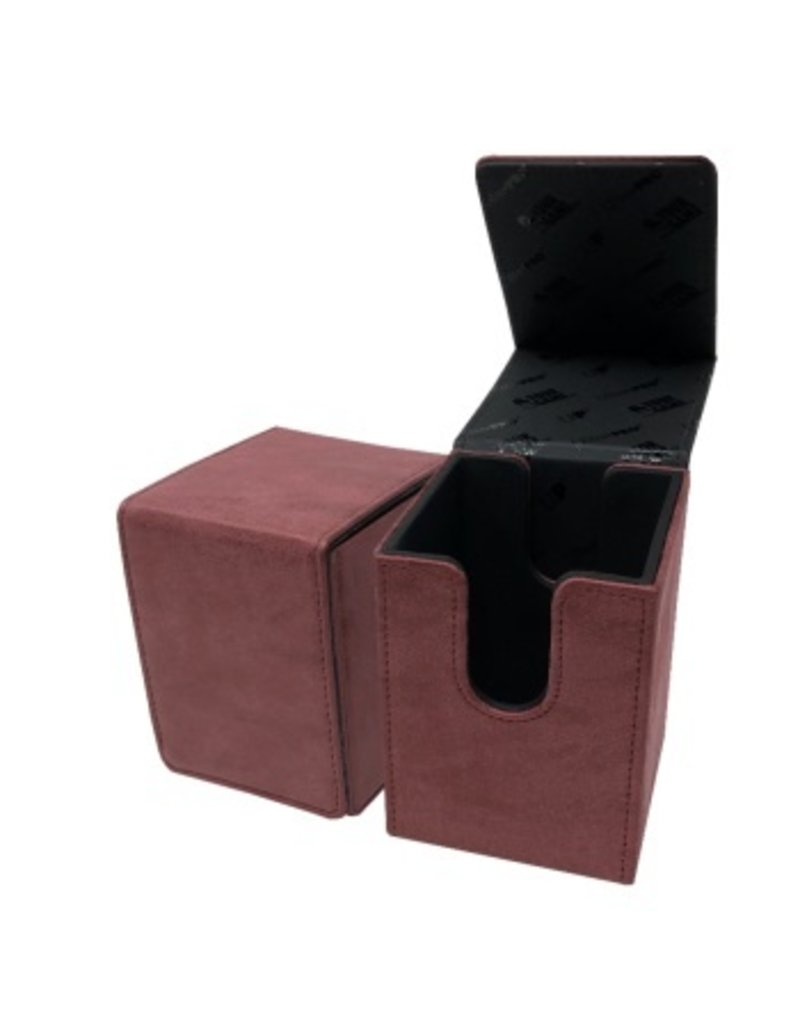 Ultra Pro Suede Collection Deckbox Alcove Flip Box Ruby