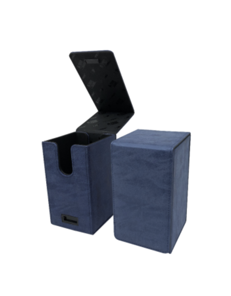 Ultra Pro Alcove Tower Suede Collection Deck Box Sapphire