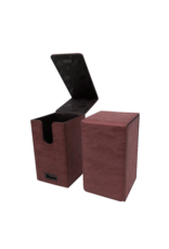 Ultra Pro Suede Collection Alcove Tower Deck Box Ruby
