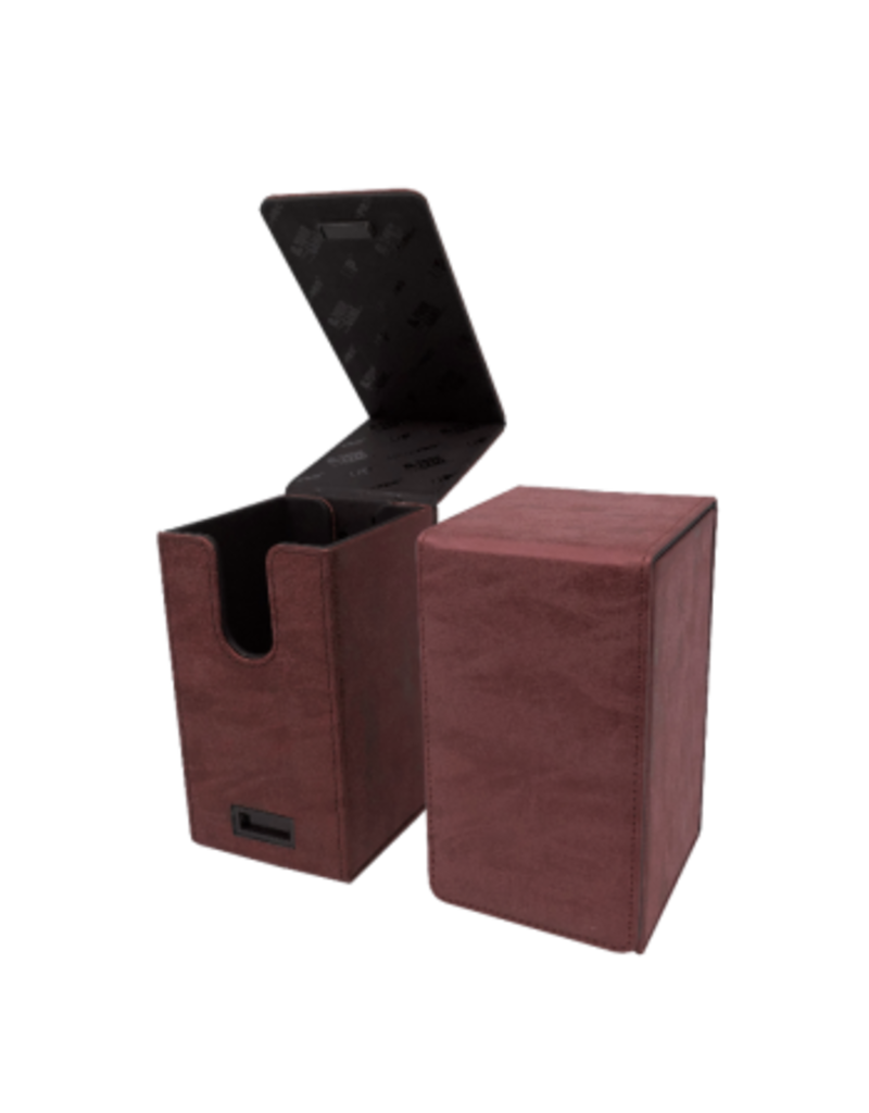 Ultra Pro Alcove Tower Deck Box Suede Collection - Ruby Ultra Pro