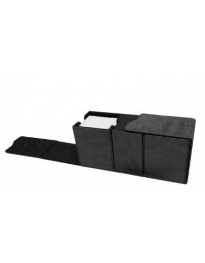 Ultra Pro Alcove Vault Deck Box Suede Collection - Jet Ultra Pro