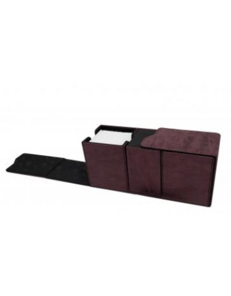 Ultra Pro Alcove Vault Deck Box Suede Collection - Ruby Ultra Pro