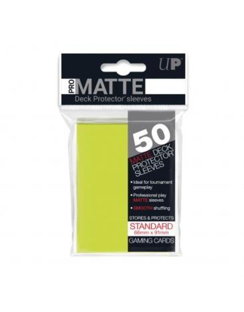 Ultra Pro Ultra Pro Standard Matte Sleeves Bright Yellow