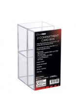 Ultra Pro 2-Piece Clear Card Box Two Compartment Ultra Pro